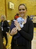 Kerrie Morrison with Rhys 3 weeks old