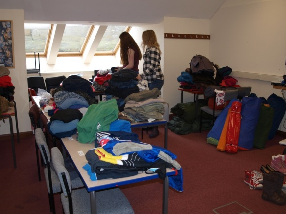Sorting Donations - Refugee Crisis