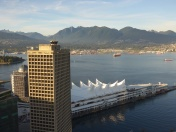 Canada Place with North Shore Mountains